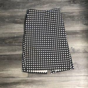 Ann Taylor Graphic high waisted pencil skirt